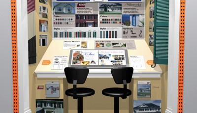 In-store displays - Joe Condon design station