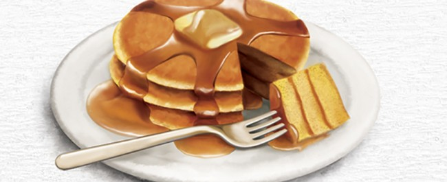 food illustration by joe condon of pancakes