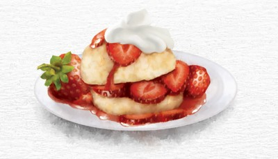 food illustration by joe condon of strawberry shortcake