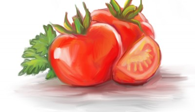 food illustration by joe condon of tomatoes
