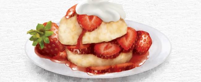 food illustration by joe condon of strawberry shortcake