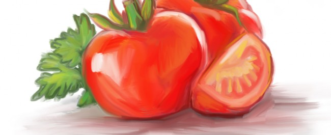 food illustration by joe condon of tomatoes
